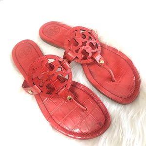Tory Burch Shoes - {Tory Burch} Croc Print Miller Sandals